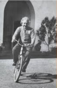 I though of that while on my bike. Albert Einstein cited www.quotessay.com